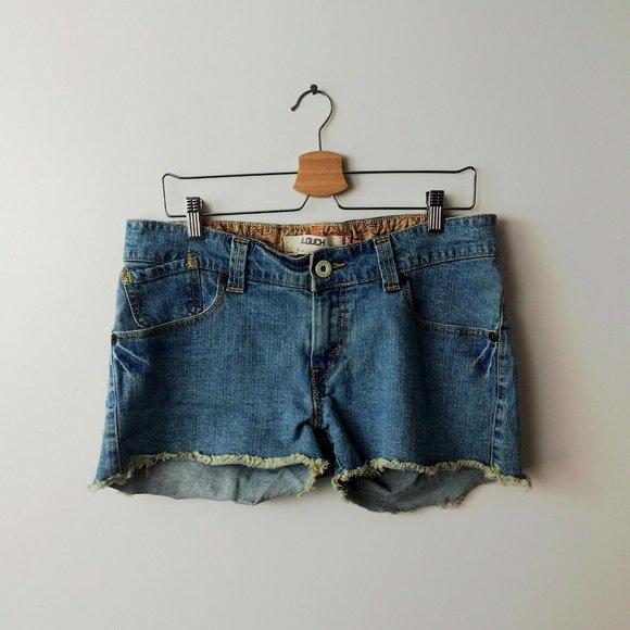 VINTAGE Y2K Levis 504 Slouch Cut Off Denim Shorts